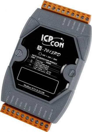 M-7013PD # I/O Module/Modbus RTU/1AI/2DO/1DI, DCON, LED, ICP DAS