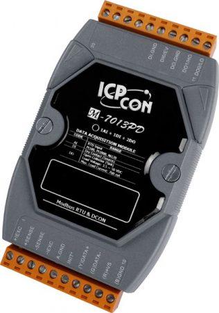 M-7013PD # I/O Module/Modbus RTU/1AI/2DO/1DI, DCON, LED, ICP DAS