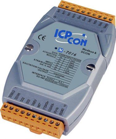 M-7016 # I/O Module/Modbus RTU/DCON/2AI/Strain Gauge/4DO/1DI, ICP DAS