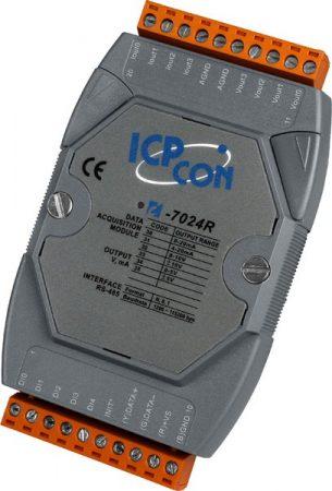 M-7024R #  I/O Module/Modbus RTU/DCON/4AO/14bit/5DI, ICP DAS