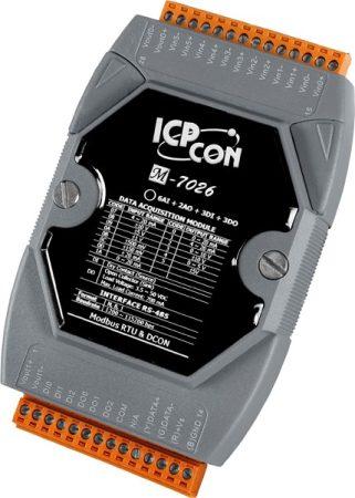 M-7026 # I/O Module/Modbus RTU/6AI/2AO/3DI/3DO, ICP DAS