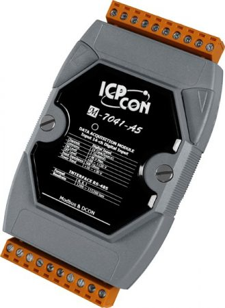 M-7041-A5-G # I/O Module/Modbus RTU/14DI/High Voltage, ICP DAS, ICP CON