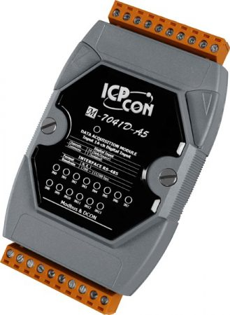 M-7041D-A5-G # I/O Module/Modbus RTU/14DI/High Voltage/LED, ICP DAS, ICP CON