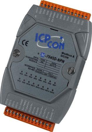 M-7045D-NPN # I/O Module/Modbus RTU/DCON/16DO/O.C./LED, ICP DAS
