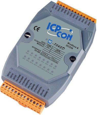 M-7045D # I/O Module/Modbus RTU/DCON/16DO/O.C./LED, ICP DAS