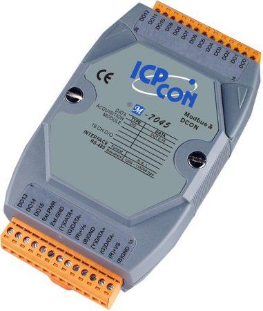 M-7045 # I/O Module/Modbus RTU/DCON/16DO/O.C., ICP DAS