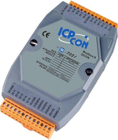 M-7051 # I/O Module/Modbus RTU/16DI, ICP DAS, ICP CON