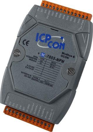 M-7055-NPN # I/O Module/Modbus RTU/DCON/8DI/8DO/NPN, ICP DAS, ICP CON
