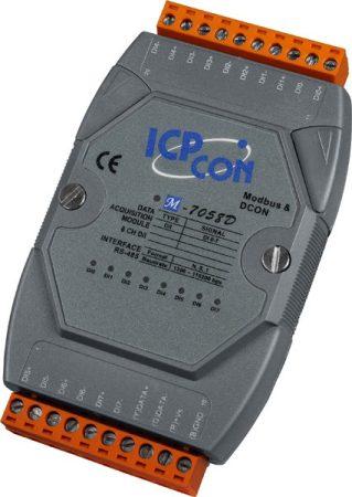 M-7058D-G # I/O Module/Modbus RTU/8DI Isol./AC-DC DI/240VAC/LED, ICP DAS, ICP CON