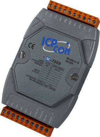 M-7059-G # I/O Module/Modbus RTU/8DI Isol./AC-DC DI/80VAC, ICP DAS, ICP CON