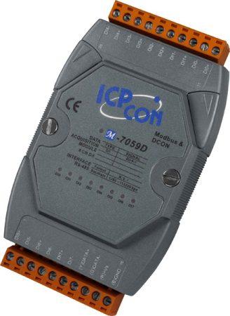 M-7059D-G # I/O Module/Modbus RTU/8DI Isol./AC-DC DI/80VAC/LED, ICP DAS, ICP CON