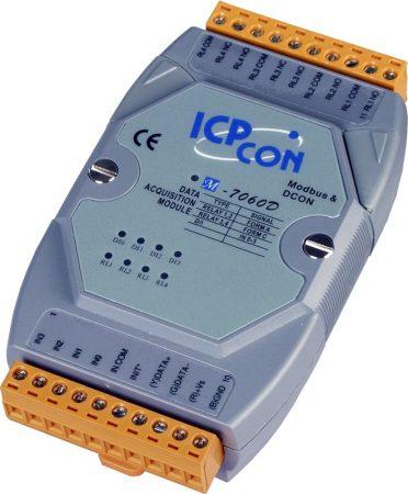 M-7060D-G # I/O Module/Modbus RTU/4 Relay Signal/4DI, ICP DAS, ICP CON
