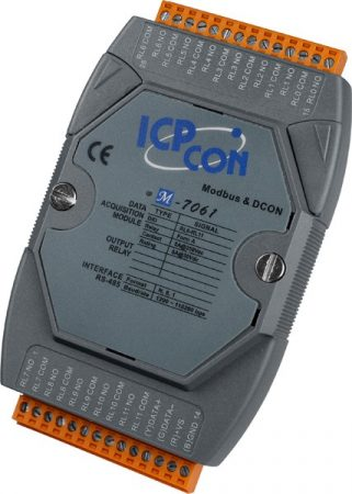 M-7061 # I/O Module/Modbus RTU/12 Relay Power, ICP DAS, ICP CON