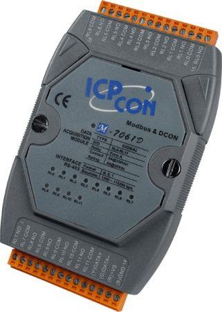 M-7061D # I/O Module/Modbus RTU/12 Relay Power/LED, ICP DAS, ICP CON