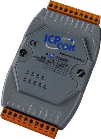 M-7065D # I/O Module/Modbus RTU/5 Relay/4DI, ICP DAS, ICP CON