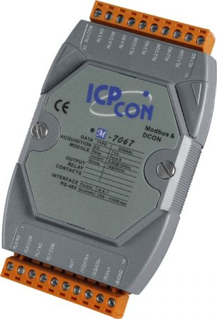 M-7067D # I/O Module/Modbus RTU/7 Relay Power/LED, ICP DAS, ICP CON