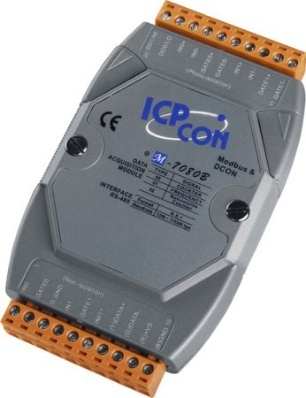 M-7080B # I/O Module/Modbus RTU/2 Counter/Battery back up/2DO, ICP DAS, ICP CON