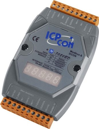 M-7080BD # I/O Module/Modbus RTU/2 Counter/Battery back up/2DO/LED, ICP DAS, ICP CON
