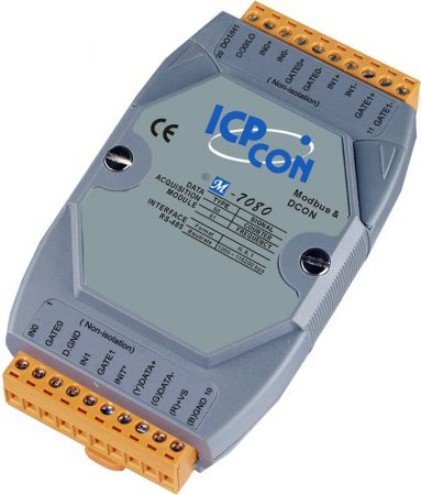 M-7080D # I/O Module/Modbus RTU/2 Counter/2DO/LED, ICP DAS, ICP CON