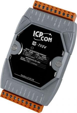 M-7084 # I/O Module/Modbus RTU/4-8 ch./Counter/Frekvencia, ICP DAS, ICP CON