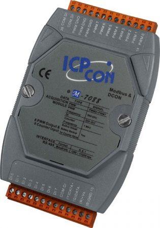M-7088-G/S # I/O Module/Modbus RTU/8 Counter/8 DO/DN-8PC8C-CA, ICP DAS, ICP CON