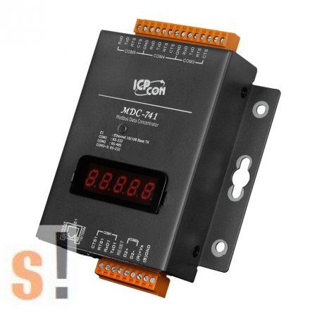 MDC-741 # Data Concentrator/Modbus /1x LAN/4x RS-232/1x RS-485, ICP DAS
