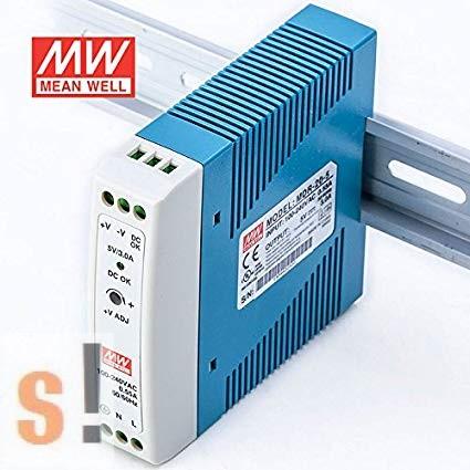 MDR-20-5 # Stabilizált tápegység/DIN sínre/5 VDC/3.0 A/15W, Mean Well