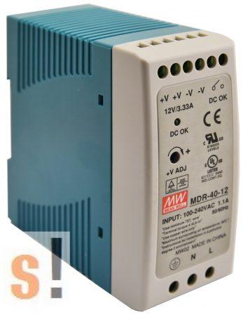 MDR-40-24 # Stabilizált tápegység/DIN sínre/24 VDC/1.7 A/40W, Mean Well