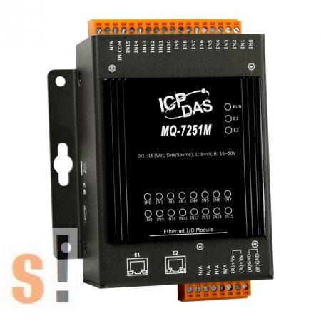 MQ-7251M # Ethernet I/O Modul/MQTT/2 portos Ethernet Switch/16x DI, ICP DAS