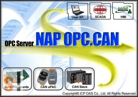 NAPOPC. # CAN DA Server, ingyenes, ICP DAS