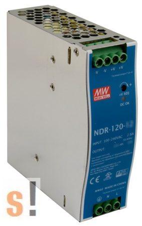 NDR-120-48 # Tápegység DIN sínre, 48 Vdc/120 W/2,5A, Mean Well