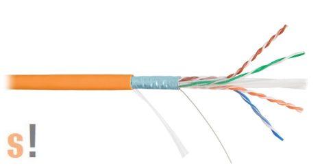 NKL 4241C-OR # Cat6 F/UTP falikábel/LSOH/100 méter/24AWG/narancs/ árnyékolt, NIKOMAX