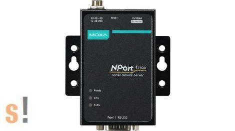 NPort 5110A # Soros - Ethernet szerver/ 1x RS-232 port/ DB9 csatlakozó/ 10/100Ethernet, MOXA