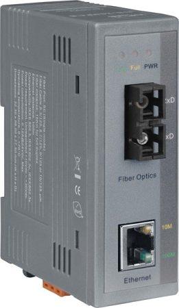 NS-200AFCS-T # Ipari 10/100 Base-T -- 100 Base-FX média konverter; 1 single mode, SC csatlakozó