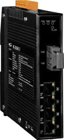 NS-205AFC-T CR # Multi-mód, SC csatlakozó, 4-port 10/100 Mbps és 1 Fiber port switch, ICP DAS