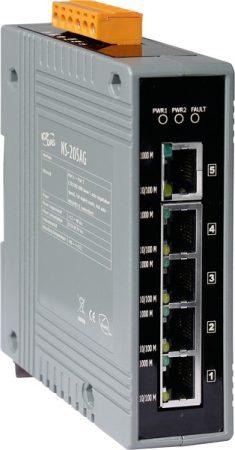 NS-205AG # Gigabit Ethernet switch, 5 port, 10/100/1000 Mbps, +48 VDC, ICP DAS