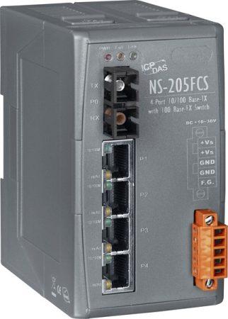 NS-205FCS  # Single-mód, 15 km, SC csatlakozó, 4-port 10/100 Mbps és 1 fiber port Switch, ICP DAS