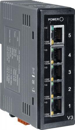 NS-205G # Gigabit Ethernet switch, 5 port, 10/100/1000 Mbps, ICP DAS