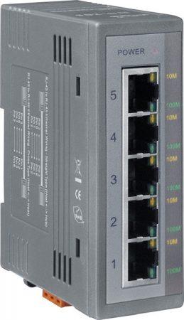 NS-205 # Ethernet switch/ 5 port/ 10/100 Mbps/ ipari/ DIN sínre/ +10~30Vdc táp/-40 °C ~ +75 °C/ ICP DAS