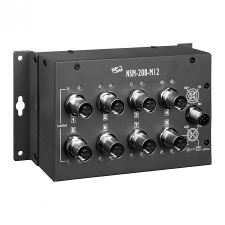 NSM-208-M12 # EN50155,  8 port, M12, Ethernet Switch, ICP DAS