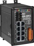 NSM-209FCS # Single-mód, 30km, SC csatlakozó, 8-port 10/100 Mbps és 1 fiber port switch, fémház, ICP DAS