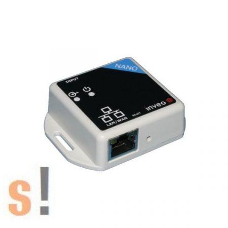 Nano IN # Mini Ethernet I/O modul/1x szigetelt digitális Bemenet/HTTP/SNMP/TCP/Modbus TCP, Inveo