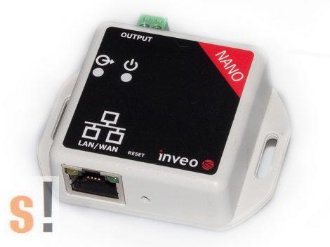 Nano OUT # Mini Ethernet I/O modul/1x relé menet/HTTP/SNMP/TCP/Modbus TCP, Inveo