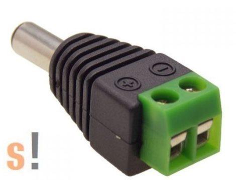 PC-TB-5.5-2.1-DC # DC tápegység csatlakozó sorkapoccsal, 5,5/2,1mm