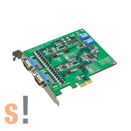 PCIE-1602 # 2-portos RS-232/422/485 PCI Express/ PCIe soros kommunikációs kártya/ túlfeszültségvédelemmel, BB SmartWorx