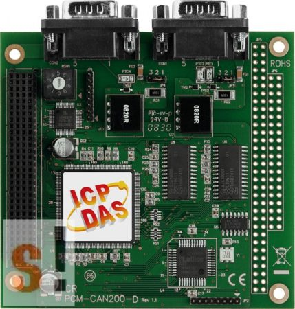 PCM-CAN200P-D # CAN kártya/PCI-104+/2 port/9 pin D-Sub/szigetelt, ICP DAS