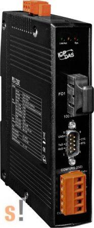 PDS-220FC # Soros/Üvegszál/Konverter/Programozható/1x RS-232 és 1x 422/485port /Fiber port/Multimód/FC/2km-ICPDAS