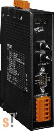 PDS-220FT # Soros/Üvegszál/Konverter/Programozható/1x RS-232 és 1x 422/485port /Fiber port/Multimód/FT/2km-ICPDAS