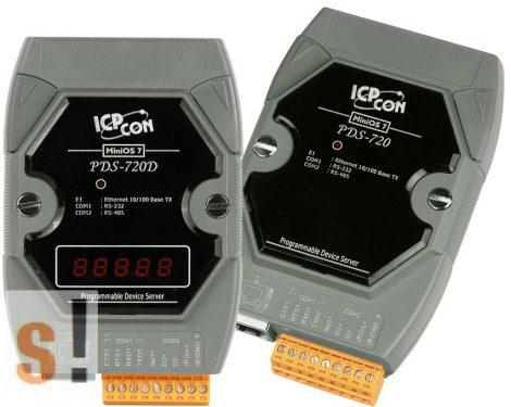PDS-720D # Soros/Ethernet/Konverter/Programozható/1x RS-232/1x RS-485/Ethernet/10/100/LED, ICP DAS