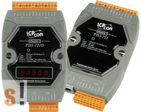 PDS-721D # Soros/Ethernet/Konverter/Programozható/1x RS-232/1x RS-485/Ethernet/10/100/6x DI/7x DO/LED, ICP DAS